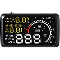 XCSOURCE 5.5 Universal HUD Head-Up Display OBD2 or EOBD Car Dashboard Mounted Projector Speed Shift Gear Warning Speedometers MA676