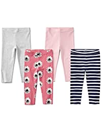 Spotted Zebra Girls 4-Pack Capri Leggings