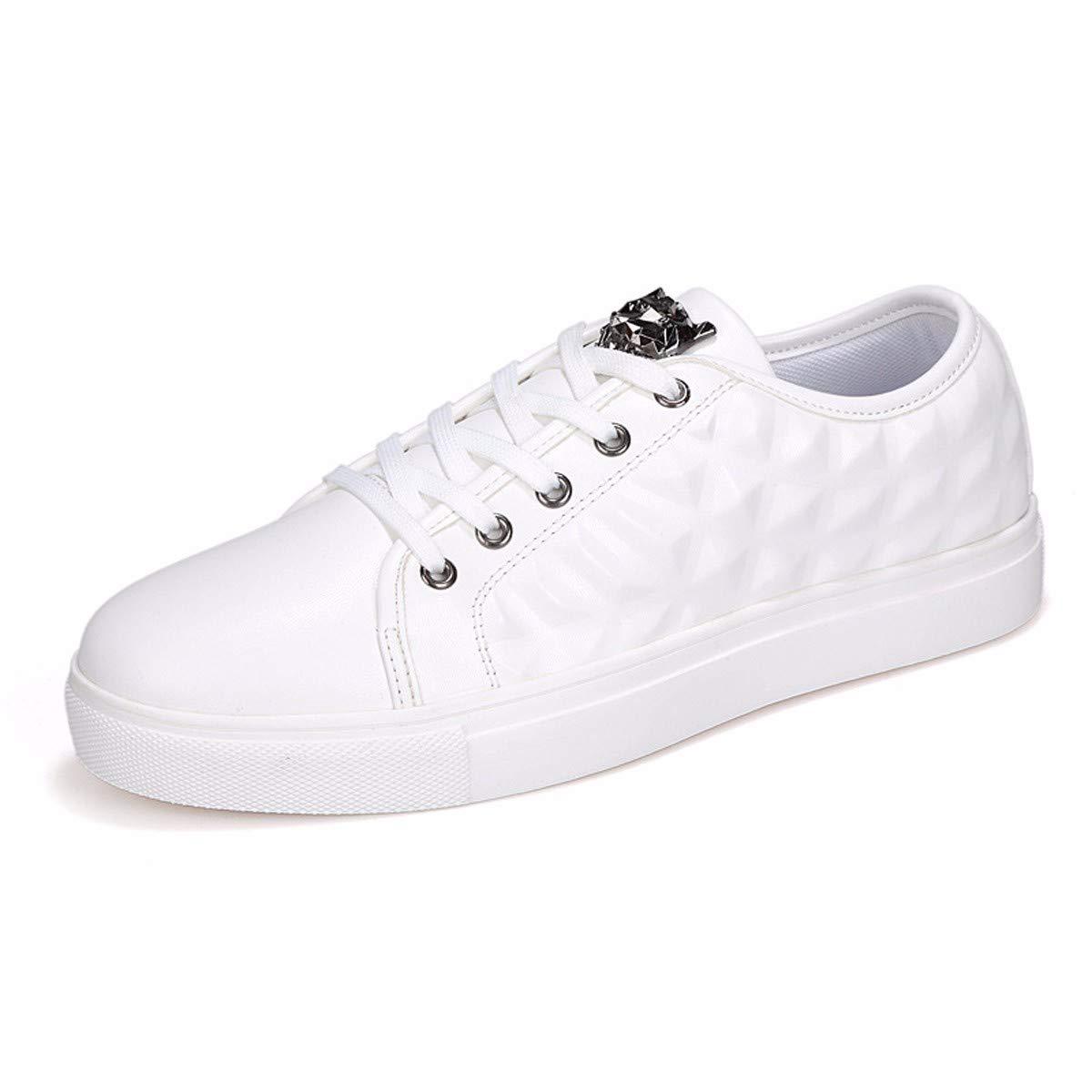 KMJBS-Männer An Bord Code.Weiße Schuhe Herbst Freizeit Konvexe Trend Große Code.Weiße Bord 39 b50f05