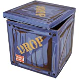 """Loot Drop Box Accessory - Perfect Decoration Gift for Gamers, Boys, Parties - Goes with Other Merch Such as Pickaxes, Guns, Chug Jugs, Costumes - Store Controllers, Headsets (14"""" x 14"""" x 14"""")"""