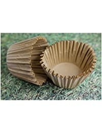 Get 100x, 2.25'' Paper Cupcake Muffin Liners, Baking Cups, Unbleached, Jumbo Cake Supplies occupation