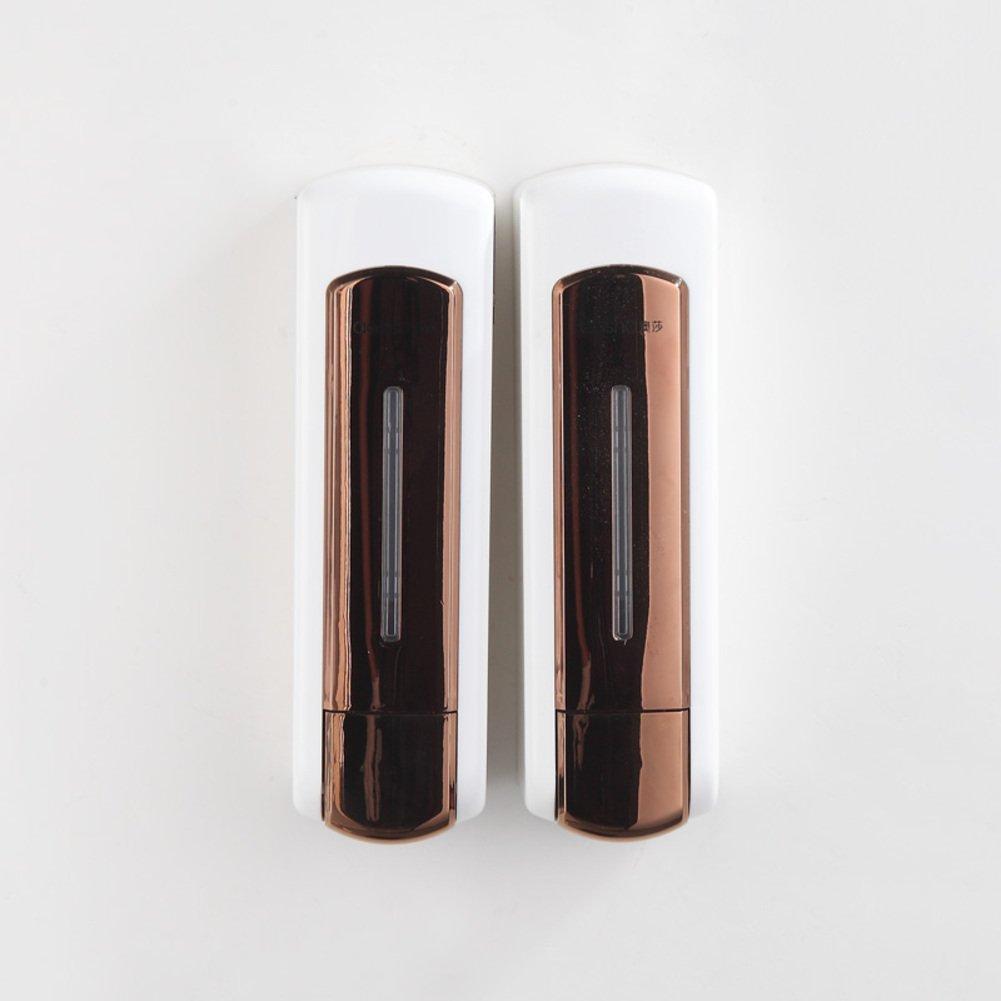 Seifenspender,Wandhalterung,Manueller soap-dispenser,Dusche dispenser,Home Hotel Gel-duschkabine Shampoo box-Gold B B079BS14K9 Seifenspender