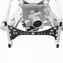 Landing Guard Plate Carbon Fiber Gimbal Guard for DJI Phantom 3 Gimbal and Camera Lens - Black