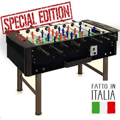FaS Calciobalilla Mundial 2.0 schwarz Aste rientrante