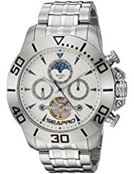 Seapro Mens Montecillo Automatic Stainless Steel Casual Watch, Color:Silver-Toned (Model: SP5133)