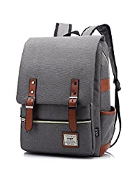 Cool Style Daypack School Backpack Oxford Fabric Backpack for High School/College Student Elegant Casual Daypacks Outdoor Sports Rucksack School Shoulder Bag for Men/Women 15.6Inch Macbook by EFFIES STYLE(Grey)