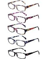 Eyecedar 5-Pack Reading Glasses Men Rectangle...