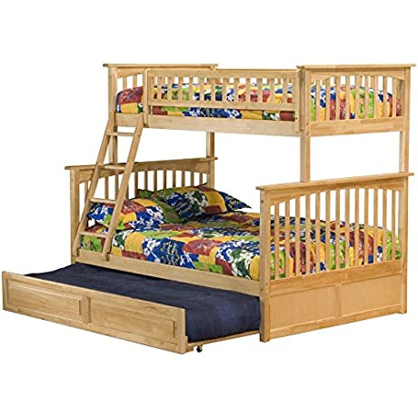 Columbia Bunk Bed With Trundle Bed Twin Over Full Natural