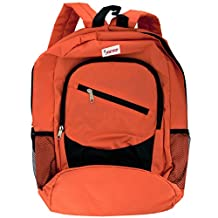 Kole Import StealStreet SS-KI-OS765 JZEE Orange Multiple Pocket Backpack