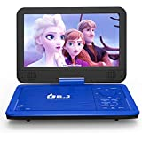"""DR. J 12.5"""" Portable Car headrest Video Player, Region-Free Portable DVD Player 10.5"""" HD Swivel Screen SYNC TV Remote Control Operate, Rechargeable Battery, AV Cable Car Charger"""