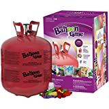 Blue Ribbon Balloon Time Disposable Helium Tank 14.9 cu.ft - 50 Balloons and Ribbon Included