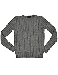 RALPH LAUREN Polo Womens Cable Knit Cuello Redondo suéter