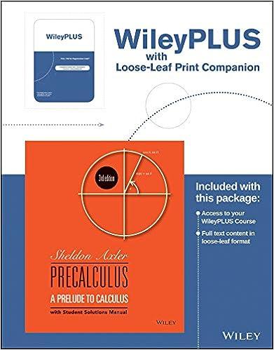 Precalculus : a prelude to calculus