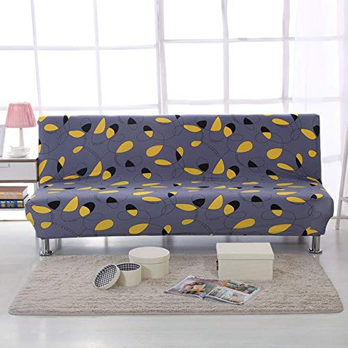 Stretch Sofa Bed Cover No Armrest Folding Sofa Cover Couch Cover Slipcovers for Living Room cubre Sofa canape Salon 160190cm   color 11, Cushion Cover 2pcs
