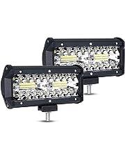 URAQT LED Offroad Werklamp, 2 x 120W Schijnwerper Werklicht, Superhelder LED Auto Werklicht Universeel voor SUV, UTV, ATV, Vrachtwagens