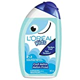 L'Oreal Paris Kids Shampoo and Conditioner, Cool Melon, 2 in 1, Paraben Free, Extra Gentle, Dermatologist Tested, Tear-Free, 265 ml