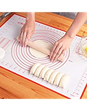 """Large Silicone Pastry Mat Non Stick Rolling Dough with Measurements-Non Slip,Reusable Large Silicone Baking Mat for Housewife(16"""" x 24"""") By LIMNUO"""
