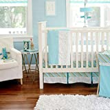 My Baby Sam Follow Your Arrow In Aqua 3-Piece Crib Bedding Set