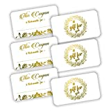 "50 Coupon Cards - Gold Foil Stamping 3.5""x2"" Blank"