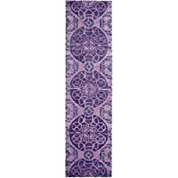 Safavieh Wyndham Collection WYD376J Handmade Purple Wool Runner, 2 feet 3 inches by 7 feet (23 x 7)