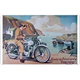 Tin Sign Motorcycle Bike Poster Metal Plate Wall Decor by Jake Box 20*30cm of Beauty of Britain a Triumph Motorcycles