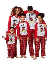 Mickey and Minnie Mouse Christmas Holiday Family Sleepwear Pajamas (Adult/Kid/Toddler)