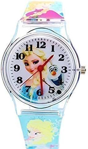 Disney Frozen Watch For Kids. Large Analog Display. Adjustable Soft Rubber Band 9