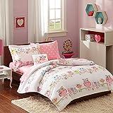 Mizone Kids Wise Wendy Complete Bed & Sheet Set, Twin, Pink