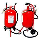 Paint Remover Red Metal Portable High Pressure Unit With Hose And Blasting Gun 20 Gallon Capacity 20G Sandblaster Tank Heavy Duty Construction - Skroutz