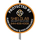 Burglar Alarm Warning Yard Sign - Protected by Electronic Alarm System 24 Hour Monitoring and Surveillance