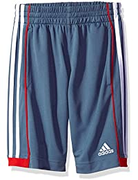 Big Boys' Athletic Short, Grey/Red, X-Large