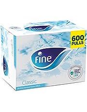 Fine Classic Sterilized White Facial Tissues - 300 x 2 Ply, 600 Pulls