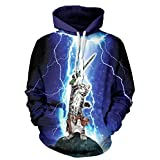 XMiniLife Fashion Printed Space Hoodie Sweatshirt,Purple Unicorn