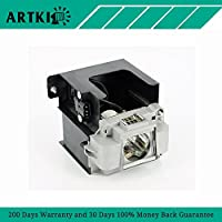 VLT-XD3200LP Replacement Projector lamp with Housing Fit for MITSUBISHI WD3200U MITSUBISHI WD3300U MITSUBISHI XD3200U MITSUBISHI XD3500U Projectors (By Artki)