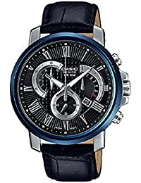 BEM-520BUL-1AV Men's Black Leather BESIDE SERIES Watch