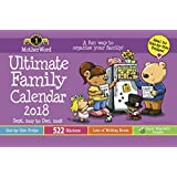 MotherWord MWMK01-28 Ultimate Family 16-Month Magnetic Calendar, Medium Side by Side Version, Sept 2017-Dec 2018, English, 9-1/2x15""