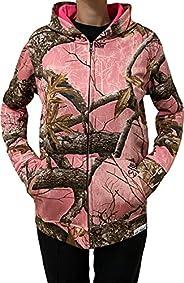 Girls Realtree Edge Light Pink Polyester Fleece Soft Hoodie