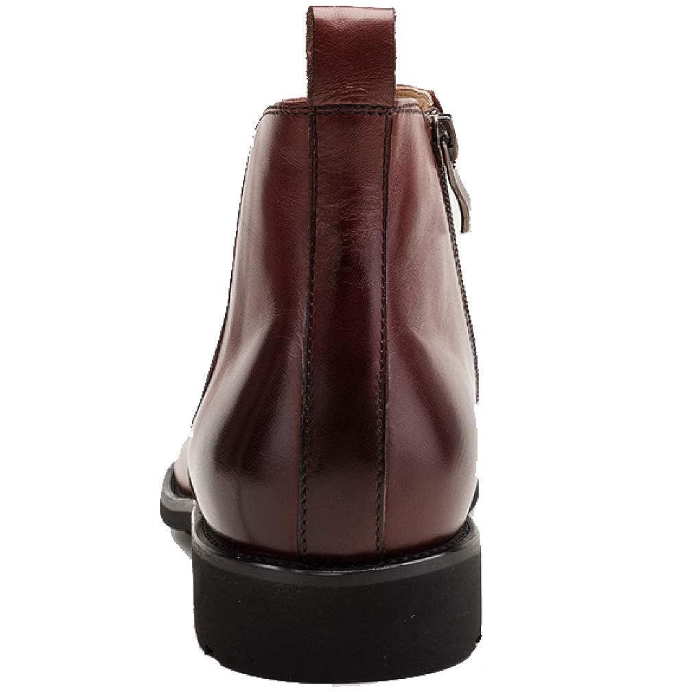 Herrenschuhe Booties Martin Schuhe Stiefel Comfort Casual Reißverschluss High Top Schuhe Martin Verschleißfest schwarz a99621