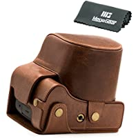 MegaGear Ever Ready Protective Leather Camera Case, Bag for Leica V-LUX (Typ 114) Digital Camera (Dark Brown)