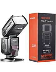Neewer nw565ex i-TTL Slave, set flash per macchina fotografica, per fotocamere Nikon DSLR, come D7100, D7000, D5300, D5200, include: 1 flash NW565N, 1 dispositivo di scatto da 2.4 GHz, wireless + diffusore per flash duro & soffice + custodia