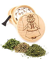 Purchase Angel Engraved Premium Natural Wooden Grinder Item # PW91316-28 compare