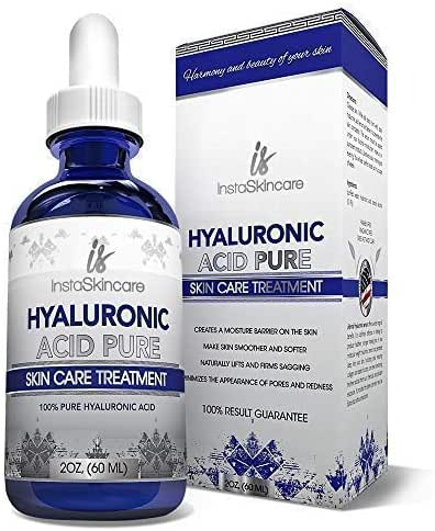 Hyaluronic Acid Serum for Face - 100% Pure Medical Quality Clinical Strength Formula - Anti Aging Formula