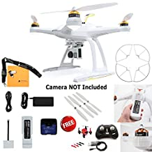 Blade Chroma Bind-N-Fly Drone with GoPro-Ready Fixed Camera Mount, 4+ Channel DSM2/DSMX Transmitter, FAZE Mini Quadcopter RTF, and Prop Guard