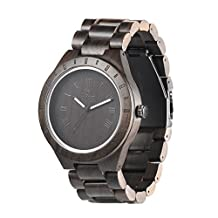 Wood watch,BIOSTON Natural Handmade Black Sandalwood 47.5mm LightWeight Vintage Casual Wood Watch For Men Size