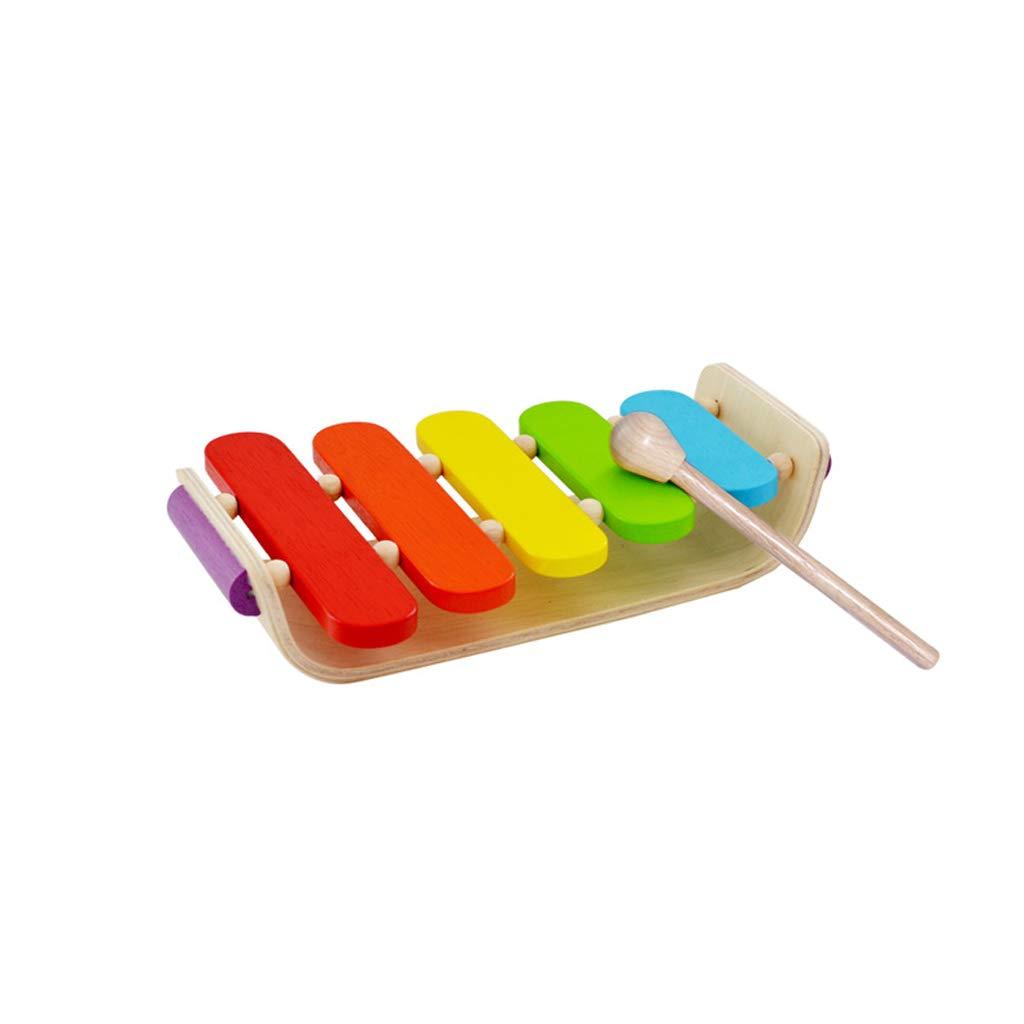LIUFS-Klopfen Sie am Klavier Gebogenes Xylophon-hölzernes klopfendes Schlaginstrument Aufklärungs-frühkindliches Bildungs-Spielzeug (Farbe   Bunte) Bunte