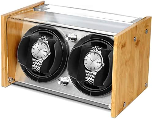 Bamboo Watch Winder for two Large to Small Automatic Watches by way of Watch Winder Smith