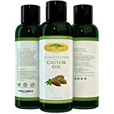 Castor Oil in Eyes (16 oz) Pure Castor Oil - 100% Expeller Pressed Castor Oil, Great Moisturizer for Skin, Hair, and Scalp. Apply for Thicker Eyelashes, Hair Growth, Acne Reducer, Shampoo and DIY Massage Oil