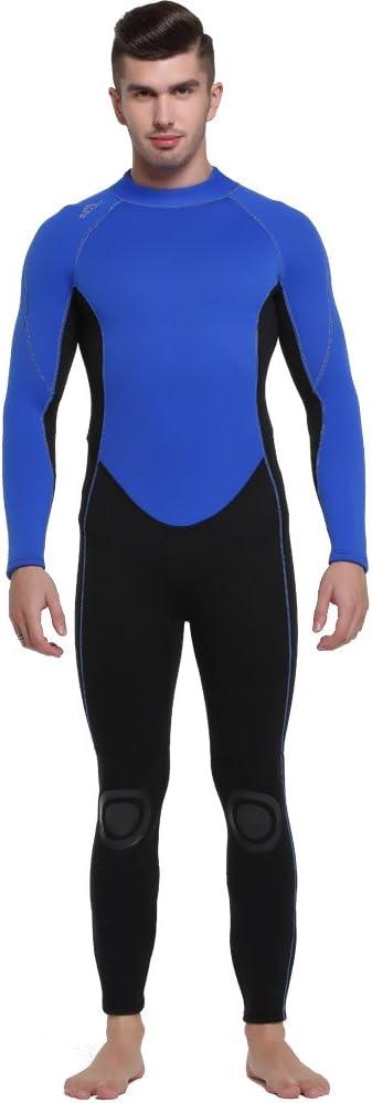 屋外の3 MM厚い男性の暖かい冬の水着男性ダイビングスーツ長袖ジャンプスーツ,M  Medium