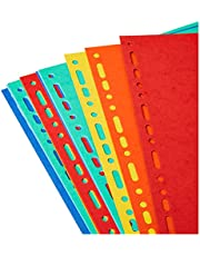 Exacompta Forever Recycled Dividers, A4 Extra Wide, 220gsm, 12 Part - Multi-Colour