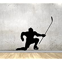 USA Decals4You | Sport Wall Decals Hockey Player Decor Stickers Vinyl MK0947